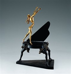 Surrealist Piano by Salvador Dali - Bronze Sculpture sized 18x25 inches. Available from Whitewall Galleries